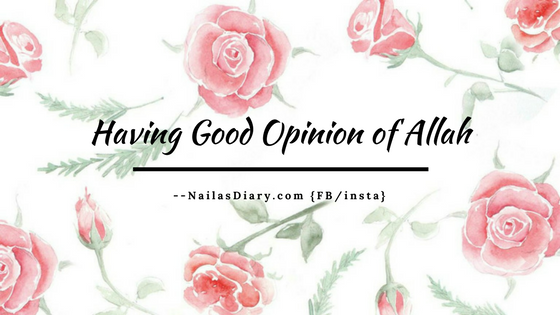 Having Good Opinion of Allah (1)
